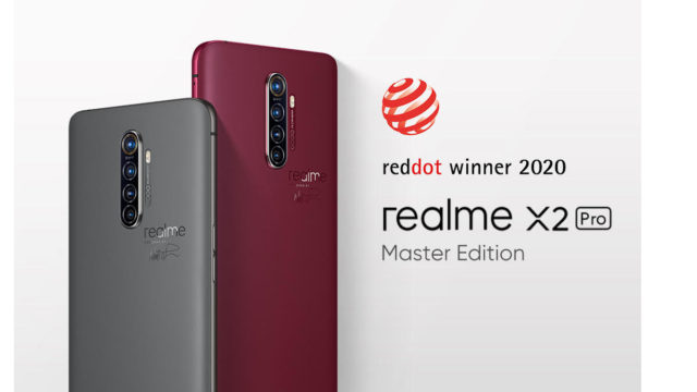 Realme X2 Pro Master Edition Raih Red Dot Design Award