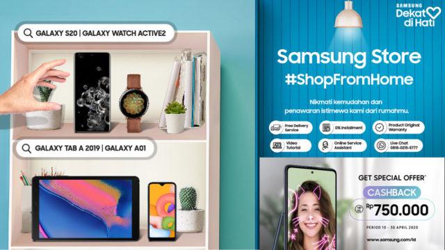 Belanja Samsung Galaxy S20 dari Rumah