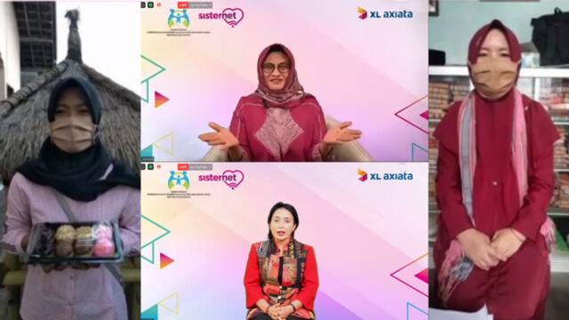 Tengah atas: Menteri Pemberdayaan Perempuan dan Perlindungan Anak RI, Ibu Bintang Puspa Yoga. Tengah bawah: Presiden Direktur & CEO XL Axiata, Dian Siswarini